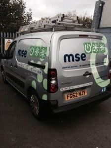 Close up of MSE van