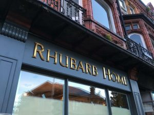 Rhubarb home shop front