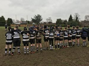Rugby players after match