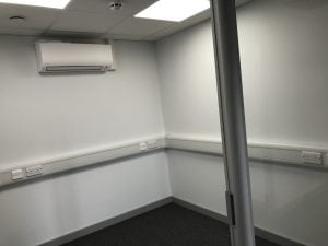 Air conditioning unit in room