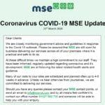 MSE COVID-19 UPDATE